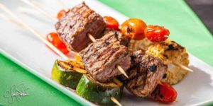 TAJÍN® Marinated Beef and Veggie Skewers