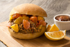 Pulled Pork Sandwiches with Orange and Grapefruit Salad