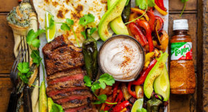 Grilled Tajín-Crusted Steak Fajitas