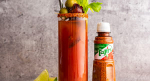 Bloody Mary with Candied Maple Bacon & Tajín